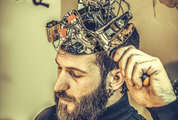 Man With Mechanical Brain