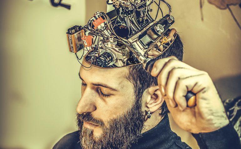 Man With Mechanical Brain
